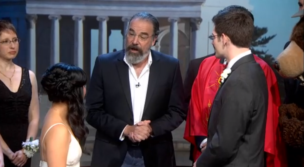 A blessing from Mandy Patinkin (photo credit: Screenshot the Colbert Report)