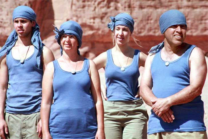 The Shweber family, competing in 'HaKfar,' hailing from Kibbutz Ketura (Courtesy Channel 10)