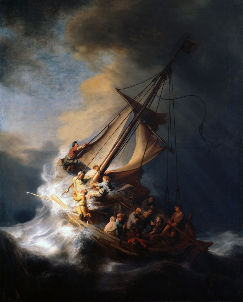 'Storm on the Sea of Galilee,' by Rembrandt (photo credit: Gardner Museum)
