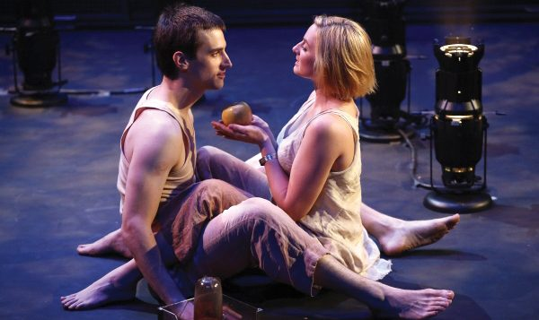 "Matthew Lieff Christian and Sofia Lauwers in ""Anthem,"" based on Ayn Rand's novel. Carol Rosegg"