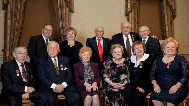 Members of the Bielski partisan group that fought the Nazis received medallions from JPEF. Timothy Lee