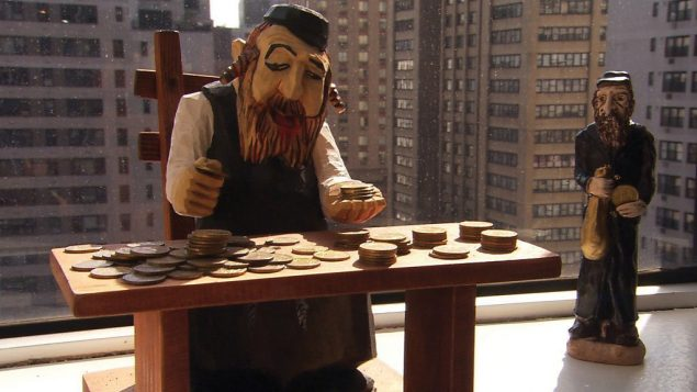 """A scene from Lewis Cohen's film """"Jews and Money."""""""