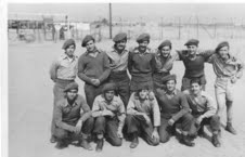 In a photo taken of the Israeli POWs, Chaim Graniewitz is top right (Photo credit: Courtesy: David Graniewitz)