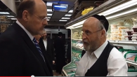 Joseph Lhota speaks with shopkeeper Joseph Waldman during a visit to Williamsburg, Brooklyn. Shimon Gifter