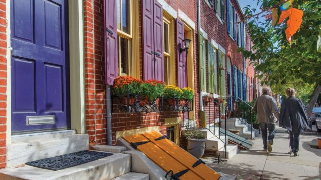 A historic block in Queen Village. R. Kennedy for GPTMC