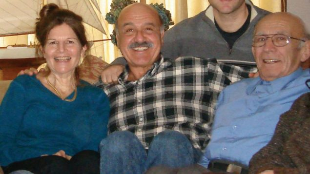 Survivor Marian Rosenbloom, right, with his niece, Susan Rostan and her husband.