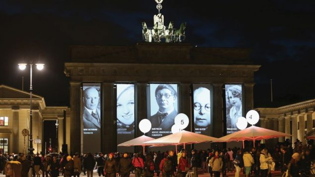 Germans remember Kristallnacht. Getty Images