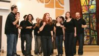 "The a cappella singing group Pizmon performs at the 'Night of Jewish Learning"" in New Rochelle."