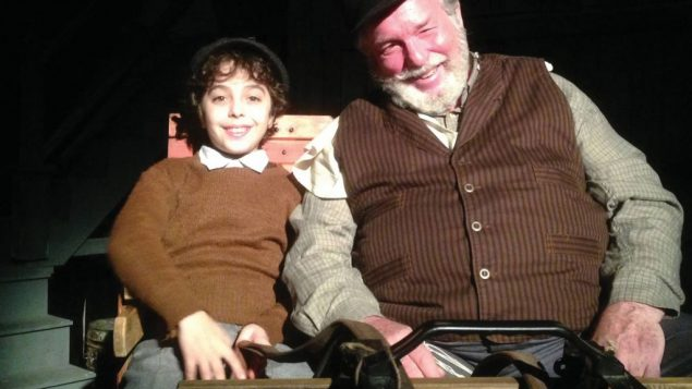 """Alex Dreier as David, left, and Chuck Karel as Zayda in """"Lies My Father Told Me."""" Crystal Arnette"""
