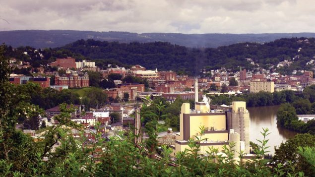 An overview of Morgantown, home to the West Virginia University Mountaineers. Courtesy Greater Morgantown CVB