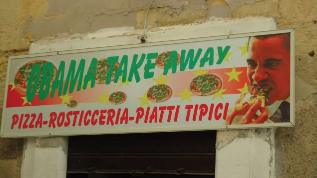 Some signs — like this one, in Italy — need no translation. Hilary Larson