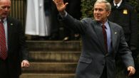 President Bush departs St. John's Episcopal Church following services in December 2007 in Washington. Getty Images