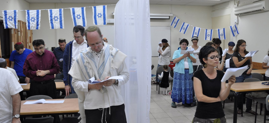 Member of Beersheba's Kehilat Be'erot praying. (photo credit: courtesy)