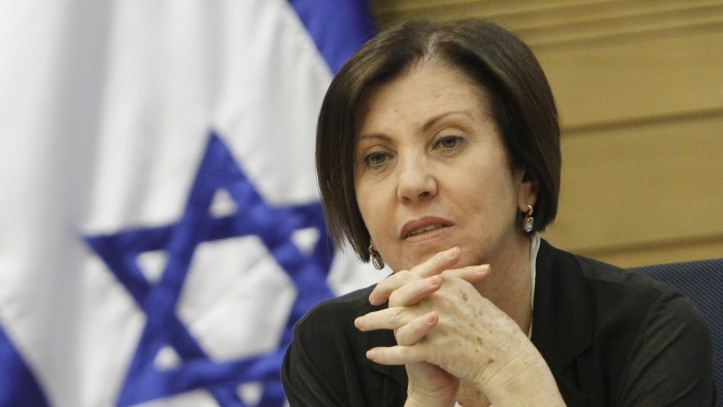 Meretz leader MK Zahava Gal-on, June 2013. (photo credit: Miriam Alster/Flash90)