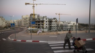 A housing construction site an  in east Jerusalem neighborhood, October 27, 2013. (photo credit: Yonatan Sindel/Flash90)