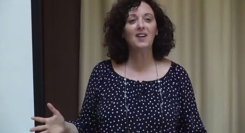 Dr. Tova Hartman giving a lecture on Hannah's Prayer. (photo credit: YouTube screenshot)