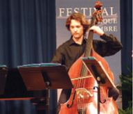 Double bassist Patrick McGuire will be featured at Juilliard-sponsored concert of World War Il-era music.
