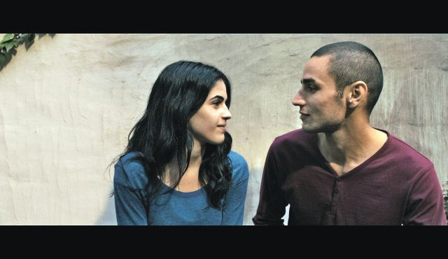 Palestinian actors Leem Lebany as Nadja and Adam Bakri as Omar (photo credit: Courtesy 'Omar')