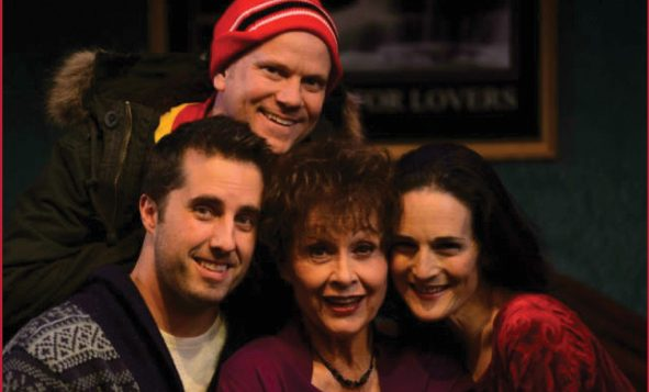 """Jonathan Sale, Sheffield Chastain, Carole Lawrence and Charlotte Cohn in """"Handle With Care."""""""
