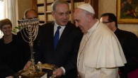 Pope Francis I and Prime Minister Benjamin Netanyahu meet in Rome on December 2, 2013. (photo credit: Amos Ben Gershom/GPO/Flash90)