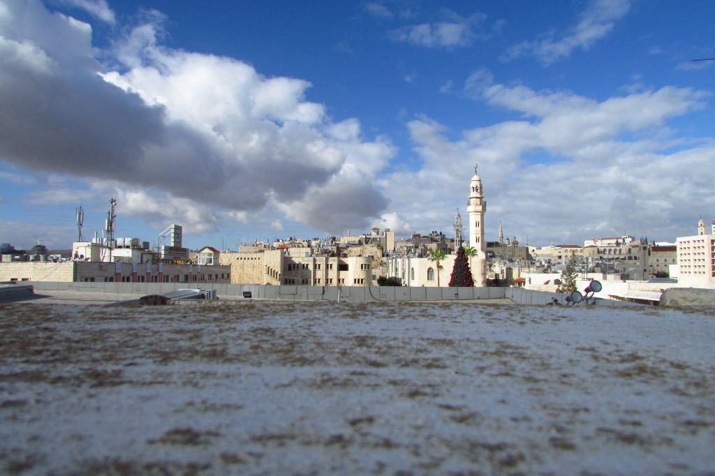 A view of Bethlehem from the roof of the Church of the Nativity (photo credit: Debra Kamin/Times of Israel)