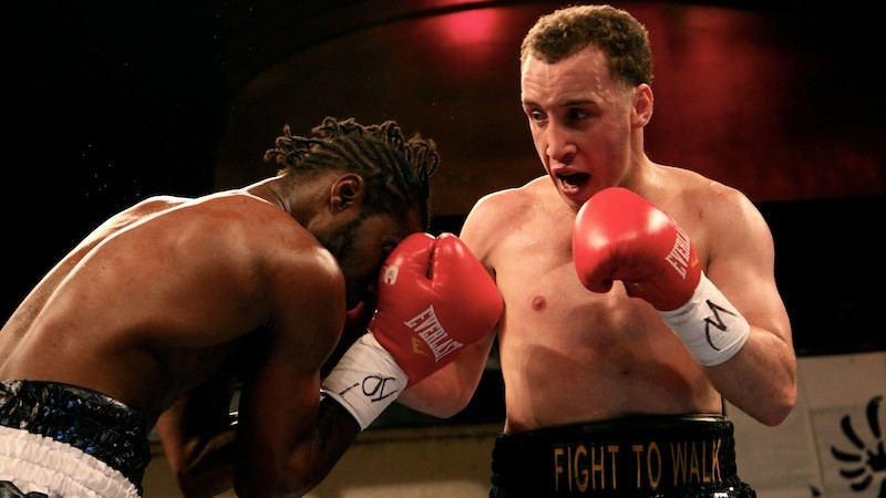 Boyd Melson delivers a left hook (photo credit: courtesy)