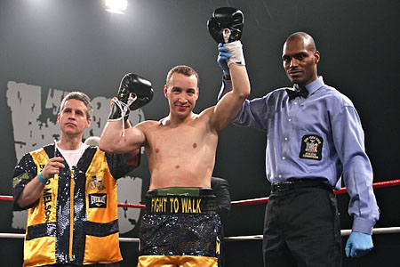 A win for Boyd Melson means a purse for Team Fight to Walk. (photo credit: courtesy)
