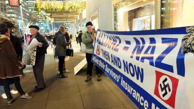 Allianz has yet to pay the families of Nazi victims, protestors say. Michael Datikash