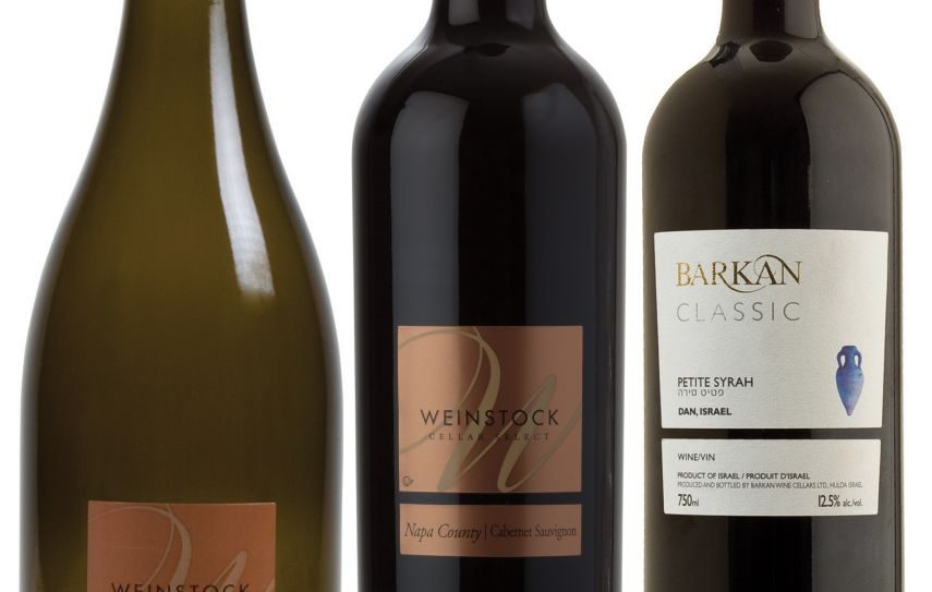 Three of the wines suitable for a wine writer's wedding ceremony/reception.