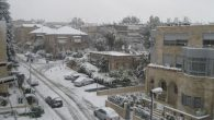 Snow began falling in Jerusalem on Thursday. By Saturday night, up to 20 inches covered the ground. Michele Chabin