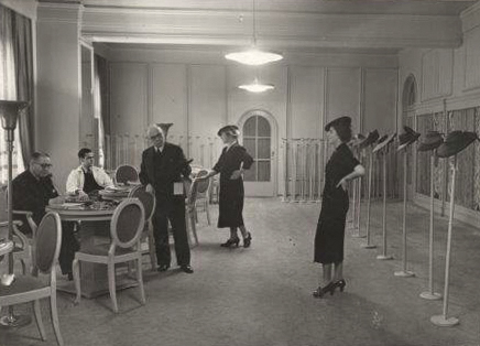 The Max Kaiser hat factory showroom in East Berlin owned by Eva Lipman's grandfather. Photo courtesy Eva Lipman