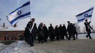 Some of the 58 Knesset members who took part in a commemoration ceremony this week at Auschwitz. Photo via JTA.org