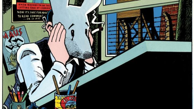 """Self-Portrait with Maus Mask,"" 1989, above. Copyright © 1989 by Art Spiegelman. the artist and The Wylie Agency LLC."