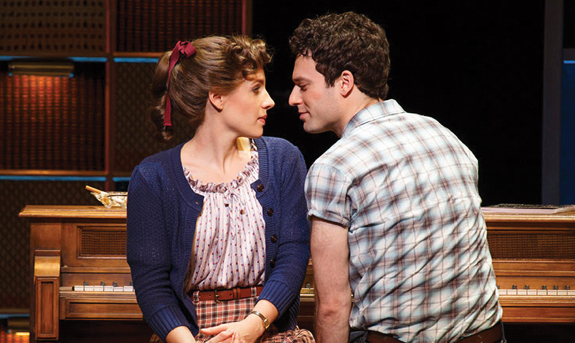 """Jessie Mueller as Carole King and Jake Epstein as Gerry Goffin in """"Beautiful."""" Joan Marcus"""