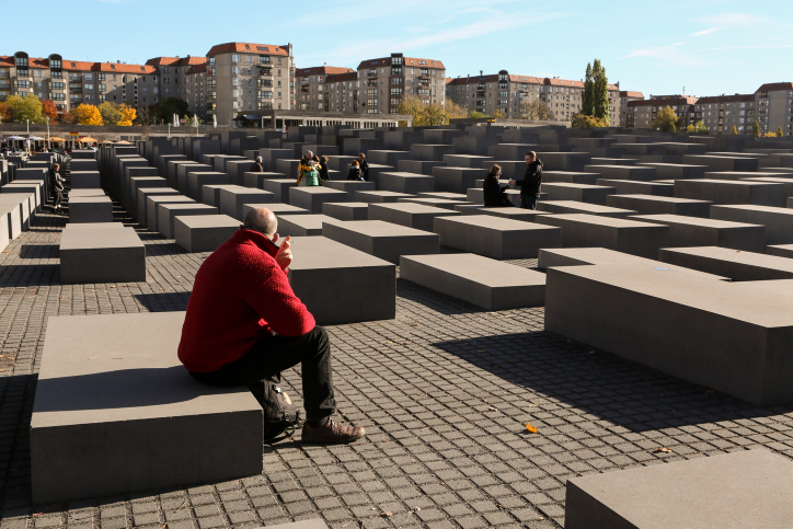 Holocaust Memorial in Berlin, Germany (photo credit: Nati Shohat/Flash90/File)