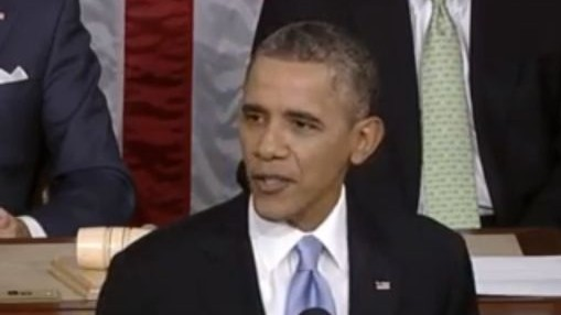 US President Barack Obama delivers the 2014 State of the Union address