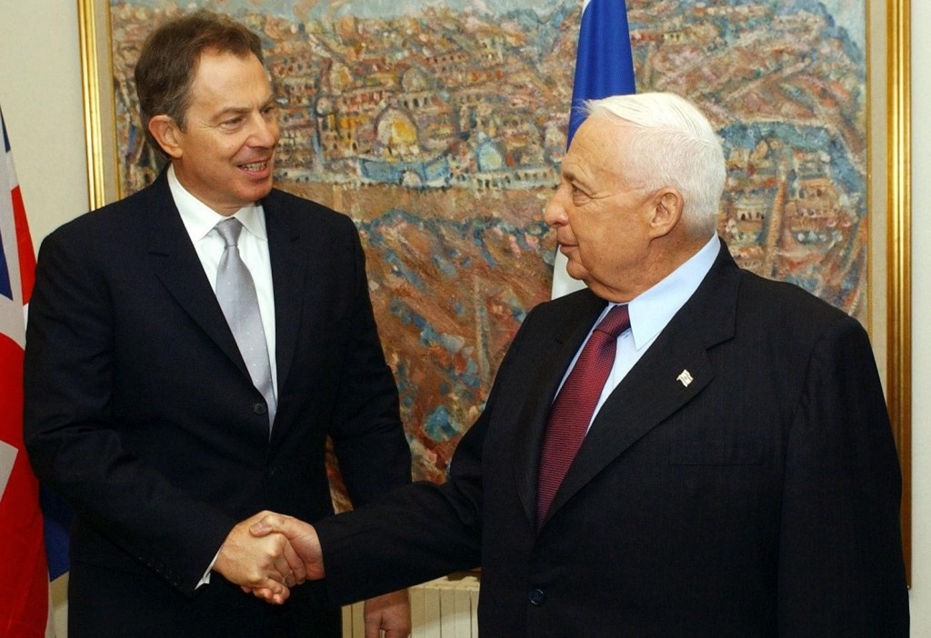 Past notes: Former British Prime Minister Tony Blair (left) meeting when he represented the quartet - the United States of America, United Nations, Russia and the European Union - as Middle East peace envoy working with the Palestinians.
