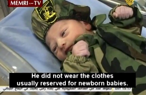 Baby Mahdi, Hezbollah's youngest member (photo credit: screen capture: YouTube)