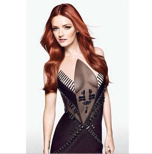 Model Lydia Hearst in her Alon Livne original (Courtesy Alon Livne)