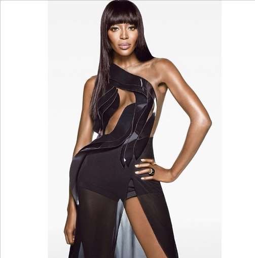 Naomi Campbell in Alon Livne cutout couture (Courtesy Alon Livne)