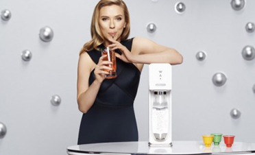 ScarJo shills for SodaStream, despite BDS screams. Photo courtesy SodaStream
