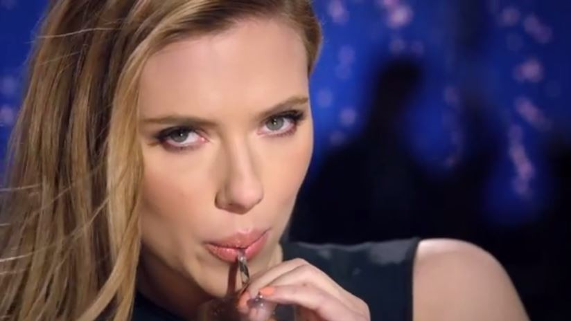 Scarlett Johansen in SodaStream's Superbowl ad (screen capture: YouTube)