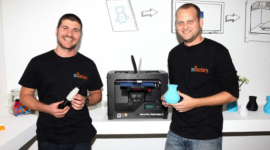 3D Factory entrepreneurs Shaul Cohen (L) and Oded Marcus (Photo credit: Courtesy)