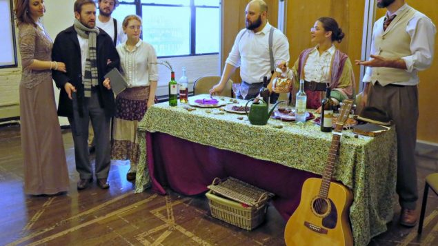 """Chekhov for the holiday: the cast of 24/6's """"TuBishVanya."""" Toby Schechter"""