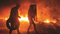 Anti-Government Protesters And Police Clashed - Kiev