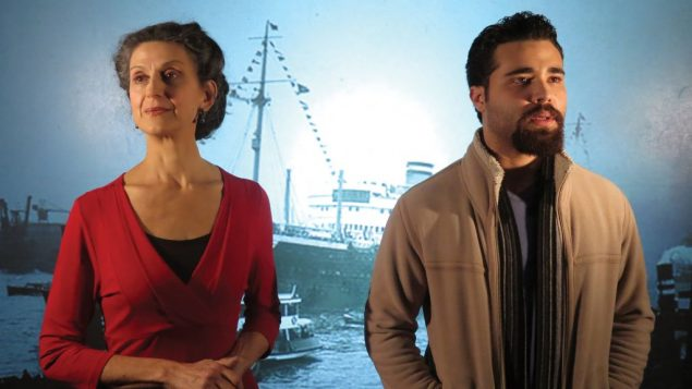 "Andhy Mendez and Franca Sofia Barchiesi in Nilo Cruz's ""Sotto Voce,"" about the voyage of the S.S. St. Louis.  Jonathan Slaff"
