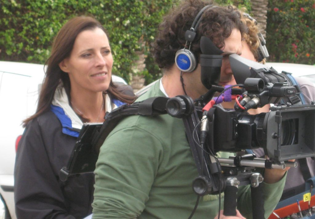 Director Cecilia Peck on set. (photo credit: Motty Reif)