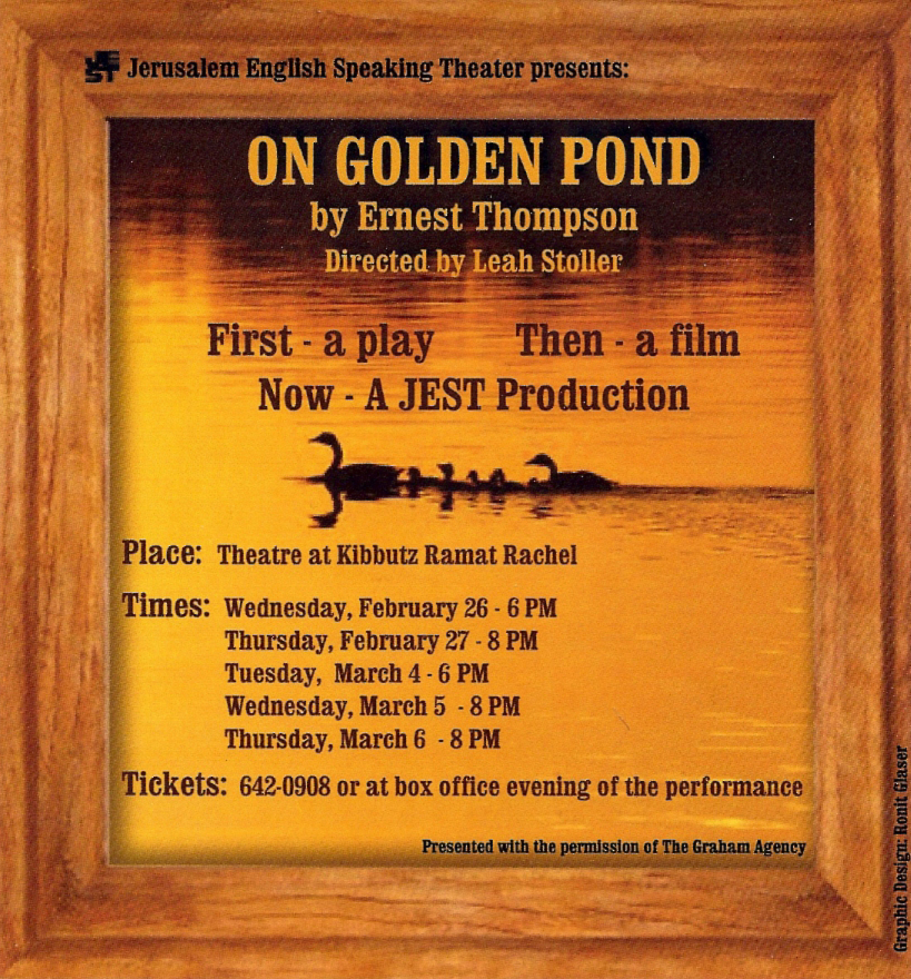 an analysis of ernest thompsons play on golden pond About the play on golden pond is by ernest thompson the production is directed by kirk mouser the cast includes tobias anderson, jane fellows.