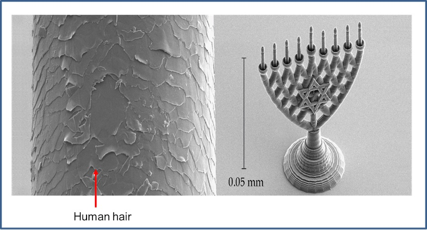 Yossi Kabessa's nano-sized menorah (Photo credit: Courtesy)