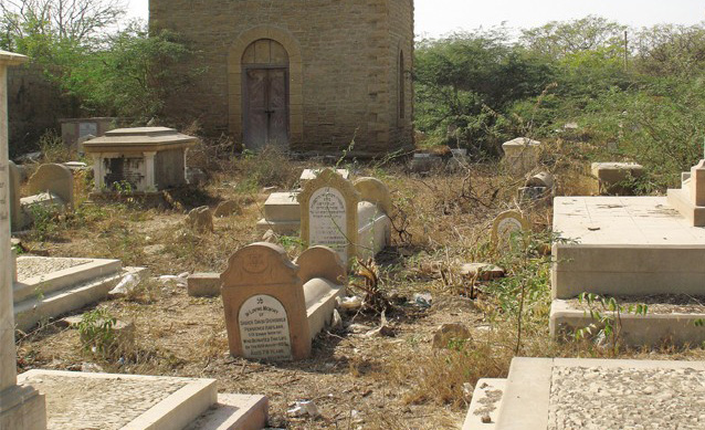 The Jewish graveyard in Karachi has become a haven for vandals and drugs, says Fishel. (courtesy)